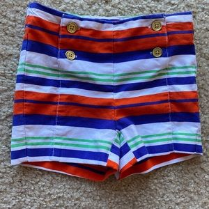 Janie and Jack toddler girl 2T striped shorts